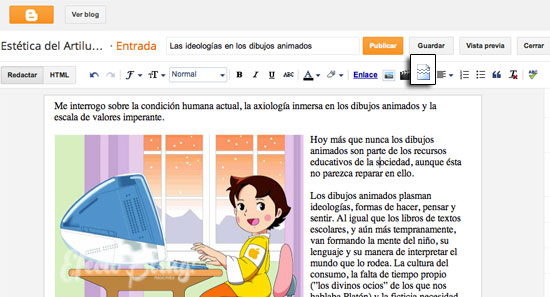blogger: cómo acortar visualmente un post