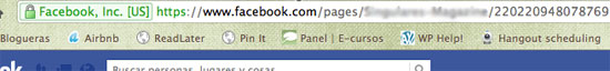 página en facebook por qué aparecen números después de mi nombre?