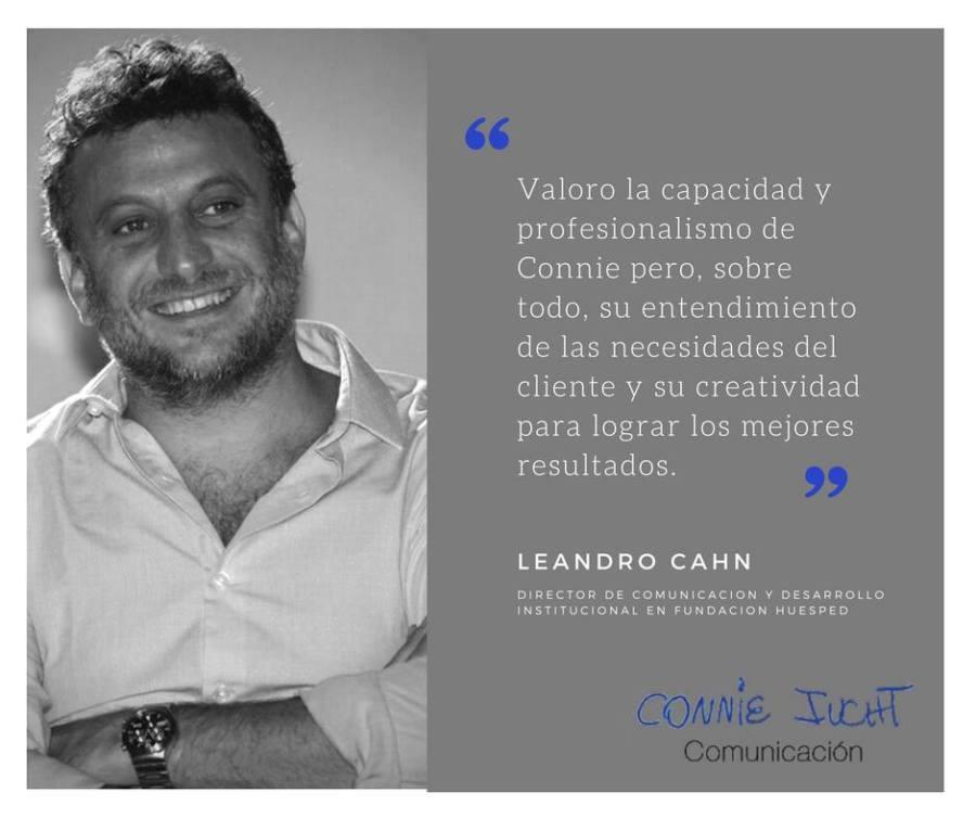 Leandro Chan habla de Connie Iucht