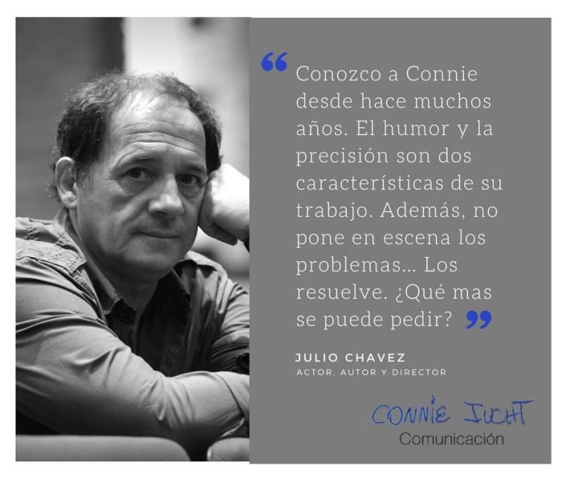 Julio Chávez habla de Connie Iucht
